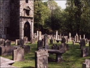 Tulliallan Kirkyard after its restoration